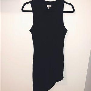 Tobi Asymmetric black dress (Size Small)